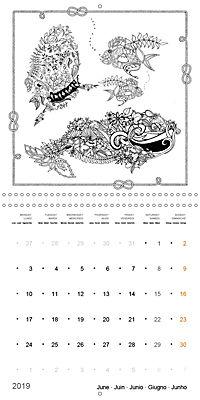 Ocean Lost by Sophie Mama (Wall Calendar 2019 300 × 300 mm Square) - Produktdetailbild 6