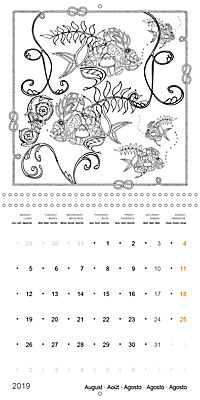 Ocean Lost by Sophie Mama (Wall Calendar 2019 300 × 300 mm Square) - Produktdetailbild 8