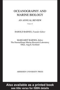 Oceanography and Marine Biology - An Annual Review: Oceanography and Marine Biology, An Annual Review, Volume 22