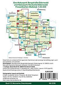 Odenwald Freizeitkarte Neckartal-Stauferland - Produktdetailbild 1