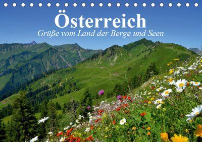 Österreich. Grüße vom Land der Berge und Seen (Tischkalender 2019 DIN A5 quer), Elisabeth Stanzer