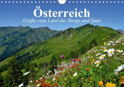 Österreich. Grüße vom Land der Berge und Seen (Wandkalender 2019 DIN A4 quer), Elisabeth Stanzer