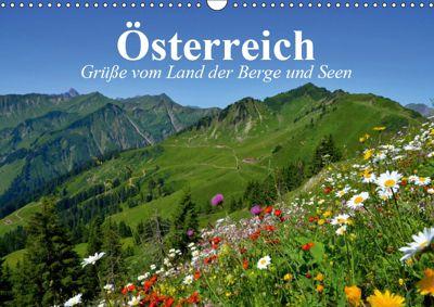 Österreich. Grüße vom Land der Berge und Seen (Wandkalender 2019 DIN A3 quer), Elisabeth Stanzer