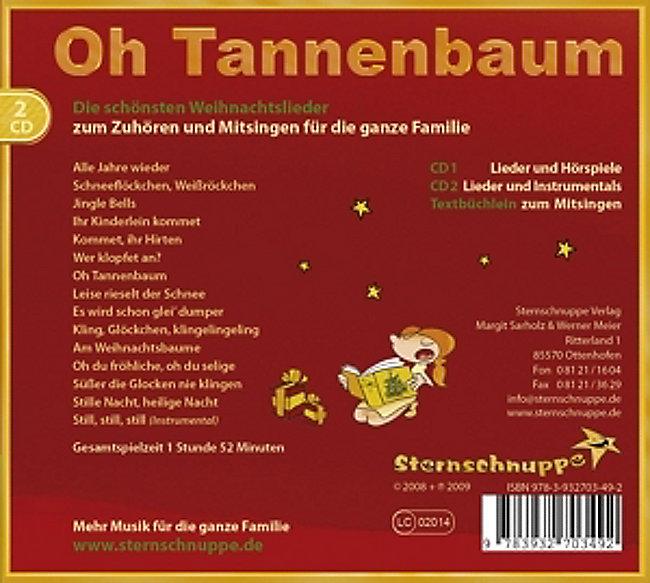 Weihnachtslieder Oh Tannenbaum.Oh Tannenbaum Cd Von Sternschnuppe Sarholz Meier Weltbild De