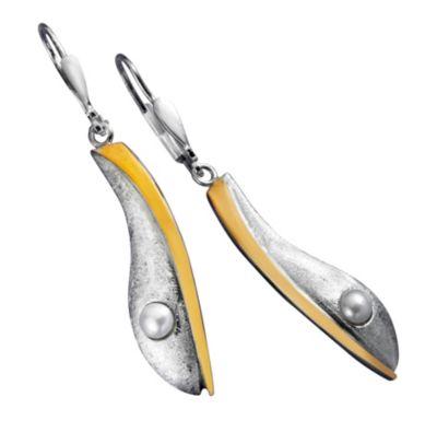 Ohrhänger Lia, 925er Silber, bicolor