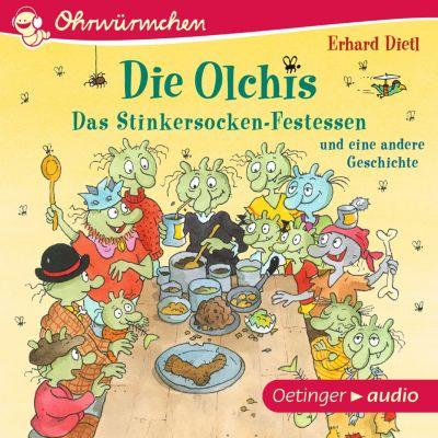 OHRWÜRMCHEN Die Olchis. Das Stinkersocken-Festessen und eine weitere Geschichte, Erhard Dietl