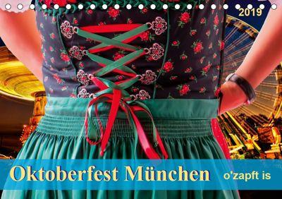 Oktoberfest München - o'zapft is (Tischkalender 2019 DIN A5 quer), Peter Roder