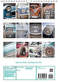 Oldtimer im Detail - Old Vintage Cars 2019 (Wandkalender 2019 DIN A4 hoch) - Produktdetailbild 13