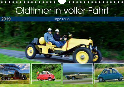 Oldtimer in voller Fahrt (Wandkalender 2019 DIN A4 quer), Ingo Laue