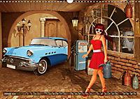 Oldtimer und Pin-Up Girls by Mausopardia (Wandkalender 2019 DIN A3 quer) - Produktdetailbild 9