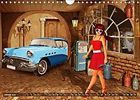 Oldtimer und Pin-Up Girls by Mausopardia (Wandkalender 2019 DIN A4 quer) - Produktdetailbild 1