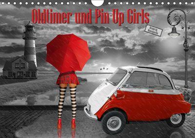 Oldtimer und Pin-Up Girls by Mausopardia (Wandkalender 2019 DIN A4 quer), Monika Jüngling alias Mausopardia