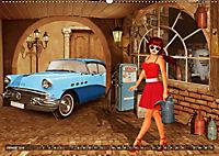 Oldtimer und Pin-Up Girls by Mausopardia (Wandkalender 2019 DIN A2 quer) - Produktdetailbild 1