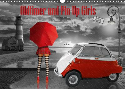 Oldtimer und Pin-Up Girls by Mausopardia (Wandkalender 2019 DIN A3 quer), Monika Jüngling alias Mausopardia