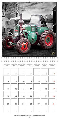 Oldtimers - tractors and trucks (Wall Calendar 2019 300 × 300 mm Square) - Produktdetailbild 3