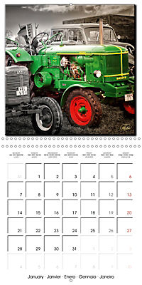 Oldtimers - tractors and trucks (Wall Calendar 2019 300 × 300 mm Square) - Produktdetailbild 1