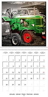 Oldtimers - tractors and trucks (Wall Calendar 2019 300 × 300 mm Square) - Produktdetailbild 1