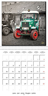 Oldtimers - tractors and trucks (Wall Calendar 2019 300 × 300 mm Square) - Produktdetailbild 6