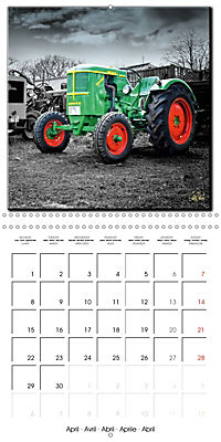 Oldtimers - tractors and trucks (Wall Calendar 2019 300 × 300 mm Square) - Produktdetailbild 4