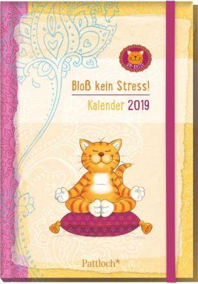 Om-Katze: Bloß kein Stress! Buchkalender 2019