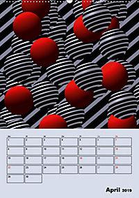 OpArt und mehr (Wandkalender 2019 DIN A2 hoch) - Produktdetailbild 4