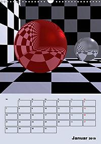 OpArt und mehr (Wandkalender 2019 DIN A3 hoch) - Produktdetailbild 1