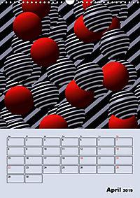 OpArt und mehr (Wandkalender 2019 DIN A3 hoch) - Produktdetailbild 4
