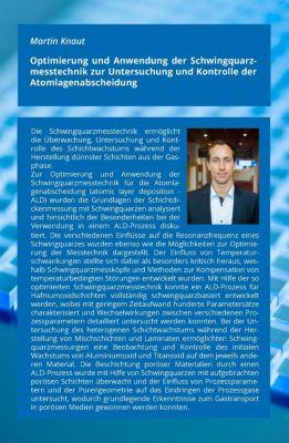 Optimierung und Anwendung der Schwingquarzmesstechnik zur Untersuchung und Kontrolle der Atomlagenabscheidung, Martin Knaut
