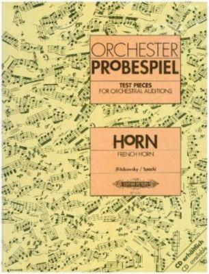 Orchesterprobespiel: Horn / Wagner-Tuba -Sammlung wichtiger Passagen aus der Opern- und Konzertliteratur- (hrsg. in Zusa, Verschiedene