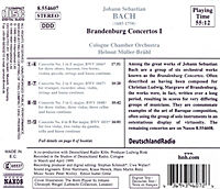 Orchesterwerke Vol. 6 (Brandenburgische Konzerte Vol. 1) - Produktdetailbild 1