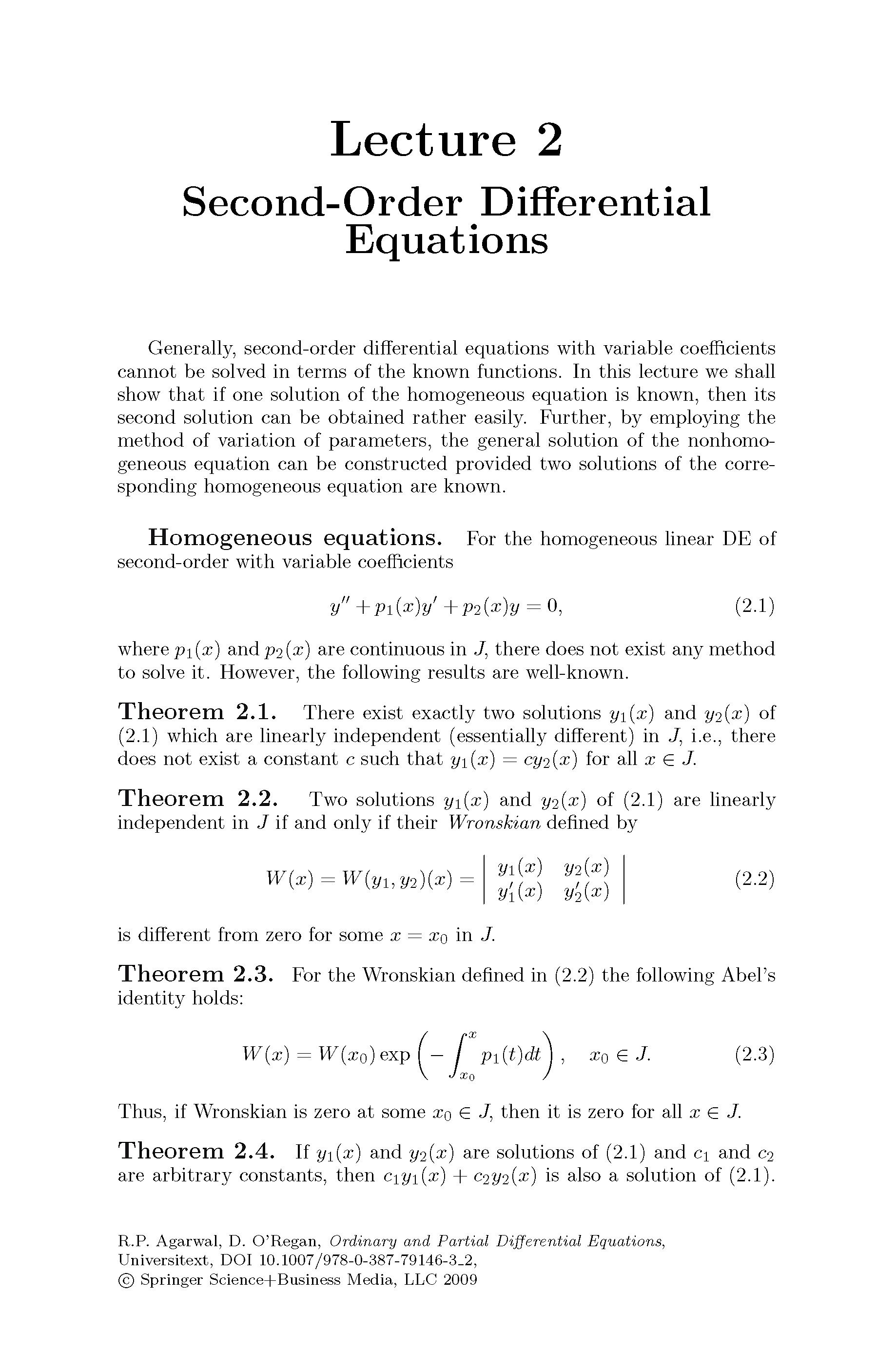 Ordinary and Partial Differential Equations Buch