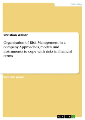 Organisation of Risk Management in a company. Approaches, models and instruments to cope with risks in financial terms, Christian Walser