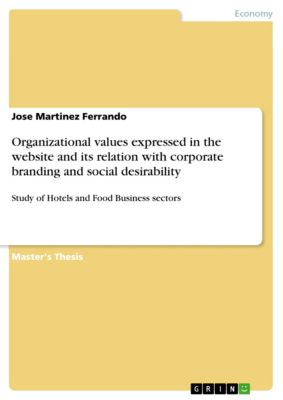 Organizational values expressed in the website and its relation with corporate branding and social desirability, Jose Martinez Ferrando