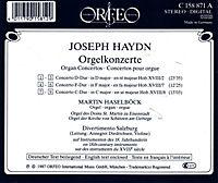 Orgelkonzerte D-Dur/F-Dur/C-Dur Hob.Xvii:2/7/8 - Produktdetailbild 1