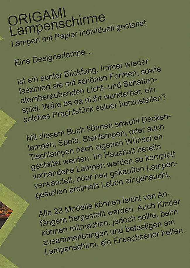 Origami Lampenschirme Buch Jetzt Bei Weltbild De Online Bestellen