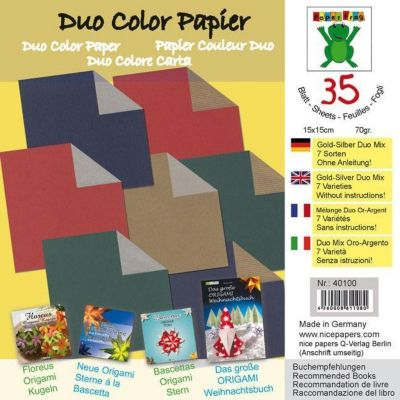 Origamipapier Duo Gold-Silber