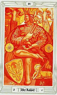 Original Aleister Crowley Thoth Tarot, Tarotkarten - Produktdetailbild 1