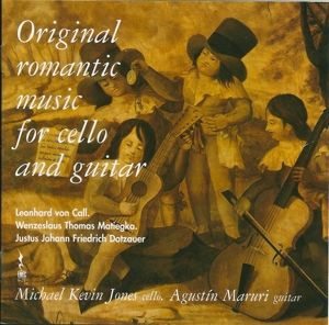 Original romantic music for cello and guitar, Michael Kevin Jones, Maruri