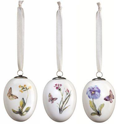 Osterei-Dekohänger Blumen, 3er-Set