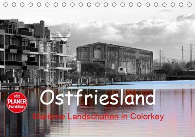 Ostfriesland Maritime Landschaften in Colorkey (Tischkalender 2019 DIN A5 quer), Rolf Pötsch