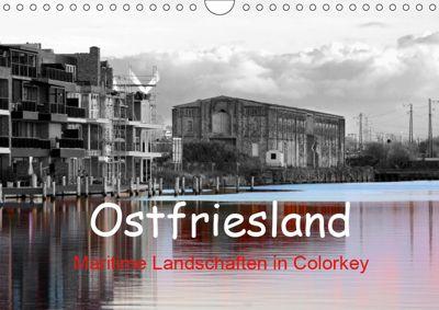 Ostfriesland Maritime Landschaften in Colorkey (Wandkalender 2019 DIN A4 quer), Rolf Pötsch