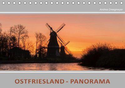 Ostfriesland Panorama (Tischkalender 2019 DIN A5 quer), Andrea Dreegmeyer