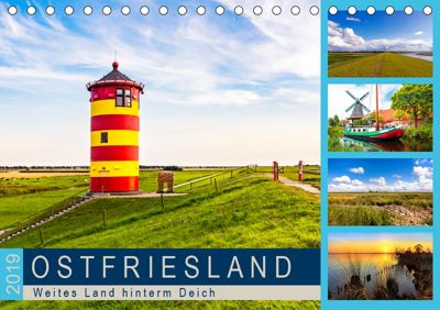 OSTFRIESLAND Weites Land hinterm Deich (Tischkalender 2019 DIN A5 quer), Andrea Dreegmeyer