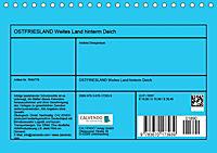 OSTFRIESLAND Weites Land hinterm Deich (Tischkalender 2019 DIN A5 quer) - Produktdetailbild 13