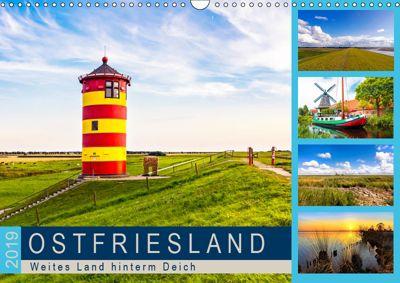 OSTFRIESLAND Weites Land hinterm Deich (Wandkalender 2019 DIN A3 quer), Andrea Dreegmeyer