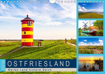 OSTFRIESLAND Weites Land hinterm Deich (Wandkalender 2019 DIN A4 quer), Andrea Dreegmeyer
