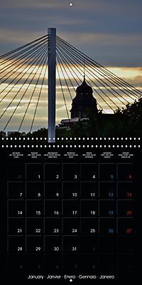 Over the Roofs of Mannheim (Wall Calendar 2019 300 × 300 mm Square) - Produktdetailbild 1