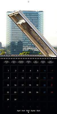 Over the Roofs of Mannheim (Wall Calendar 2019 300 × 300 mm Square) - Produktdetailbild 4