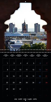 Over the Roofs of Mannheim (Wall Calendar 2019 300 × 300 mm Square) - Produktdetailbild 7