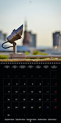 Over the Roofs of Mannheim (Wall Calendar 2019 300 × 300 mm Square) - Produktdetailbild 9